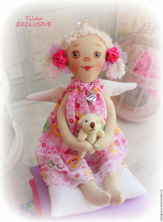 Коллекционные куклы ручной работы. Ярмарка Мастеров - ручная работа. Купить Принцесса на горошине Машенька+медведь. Handmade. Тильда ангел