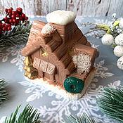 Косметика ручной работы handmade. Livemaster - original item Soap Christmas volumetric Winter in the hut. Handmade.