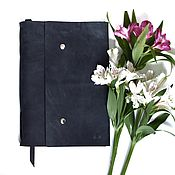 Канцелярские товары handmade. Livemaster - original item Large leather notebook A4 genuine leather Crazy Horse. Handmade.