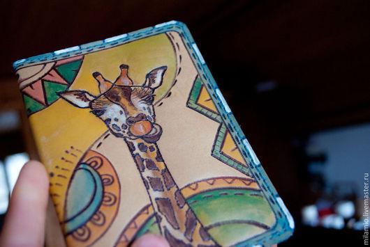 """Обложки ручной работы. Ярмарка Мастеров - ручная работа. Купить Обложка на паспорт кожа """"Жираф"""". Handmade. Кожаный, обложка кожаная"""