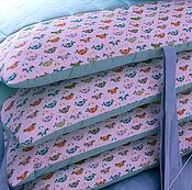 Работы для детей, handmade. Livemaster - original item Bumpers in the crib, blanket, pillowcases, garland. Handmade.
