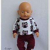 """Одежда для кукол ручной работы. Ярмарка Мастеров - ручная работа Одежда для кукол: костюм """"Совушка"""" для Беби Бон.. Handmade."""