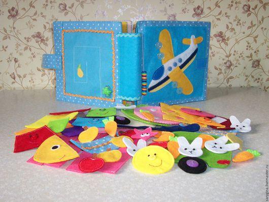 Развивающие игрушки ручной работы. Ярмарка Мастеров - ручная работа. Купить Развивающая книжка из фетра. Handmade. Голубой
