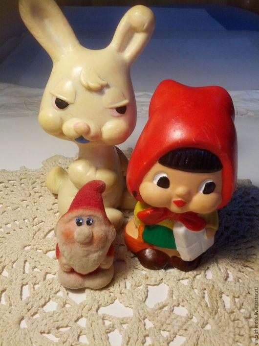 Винтажные куклы и игрушки. Ярмарка Мастеров - ручная работа. Купить Игрушки  Зайка, Красная шапочка, Дед Морозик  Винтаж. Handmade.