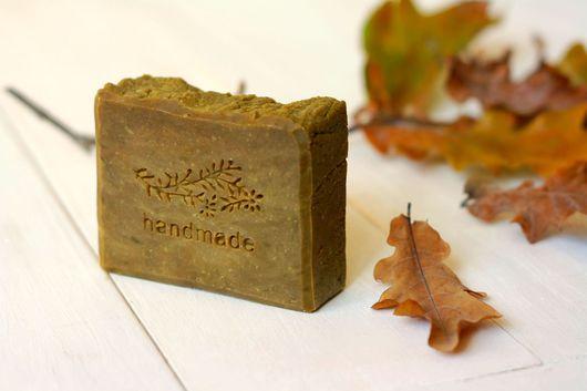 """Мыло ручной работы. Ярмарка Мастеров - ручная работа. Купить """"Секреты леса""""  натуральное мыло с нуля.. Handmade. Хаки"""