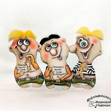 Куклы и игрушки ручной работы. Ярмарка Мастеров - ручная работа Мужички Кофейные игрушки ручной работы 23 февраля. Handmade.