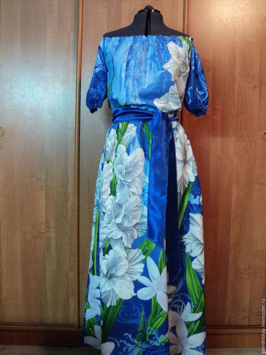 """Платья ручной работы. Ярмарка Мастеров - ручная работа. Купить Платье """"Яркий день"""". Handmade. Синий, летнее платье"""
