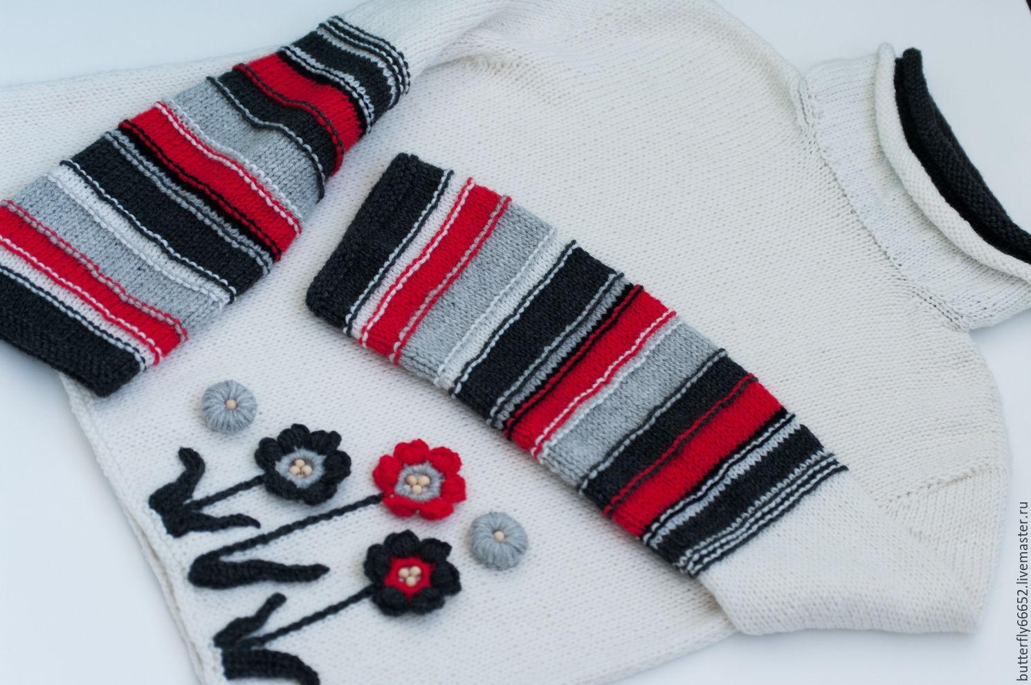Купить вязанный женский свитер доставка