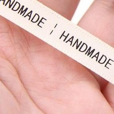 "Материалы для творчества ручной работы. Ярмарка Мастеров - ручная работа Лента ""handmade""- белая 0,5м.. Handmade."