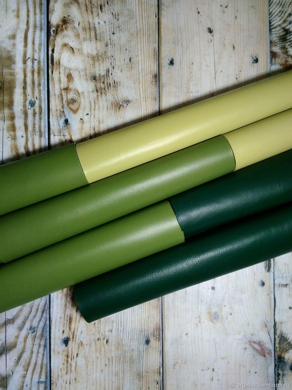 Натуральная кожа тонкая, зеленые цвета, Кожа, Москва,  Фото №1
