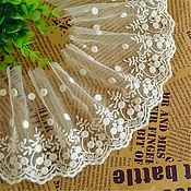 Материалы для творчества handmade. Livemaster - original item Lace embroidery on mesh. Handmade.