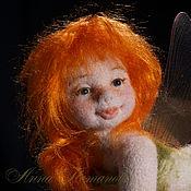 Куклы и игрушки ручной работы. Ярмарка Мастеров - ручная работа Оранжевая феечка. Авторская войлочная кукла. Handmade.