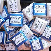 """Свадебный салон ручной работы. Ярмарка Мастеров - ручная работа Сладкие пожелания/предсказания для гостей """"Синий+Белый"""". Handmade."""