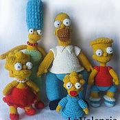 Куклы и игрушки ручной работы. Ярмарка Мастеров - ручная работа Симпсоны. Handmade.