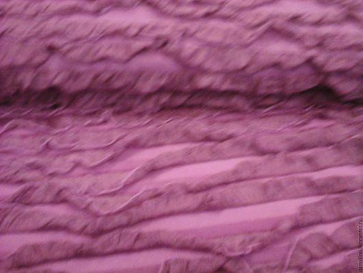 """Шитье ручной работы. Ярмарка Мастеров - ручная работа. Купить Ткань плательная """" Рюши"""". Handmade. Розовый, ткань, волны"""