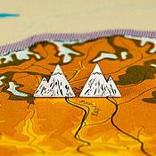 Серьги классические ручной работы. Ярмарка Мастеров - ручная работа Серьги «Пик». Handmade.