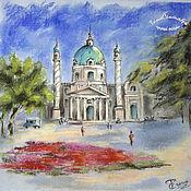 Картины и панно handmade. Livemaster - original item Painting drawing pastel graphics SUNNY DAY. Handmade.