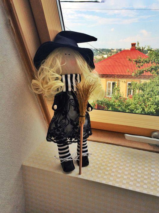 Человечки ручной работы. Ярмарка Мастеров - ручная работа. Купить Ведьмочка. Handmade. Тильда, тыквоголовка, кукла, кукла интерьерная