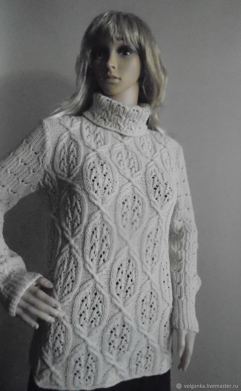 Кофты и свитера ручной работы. Ярмарка Мастеров - ручная работа. Купить Свитер Миндальный лепесток. Handmade. Белый, ажурный свитер