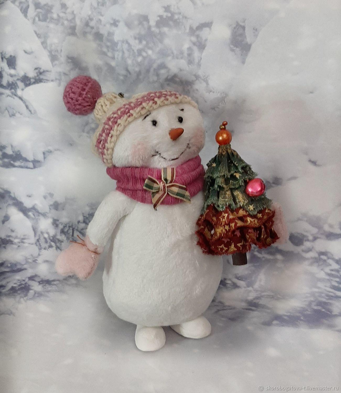 Снеговушка подарок на Новый год, Мягкие игрушки, Одинцово,  Фото №1