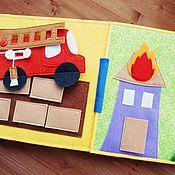 Куклы и игрушки ручной работы. Ярмарка Мастеров - ручная работа Пожарная машина. Handmade.