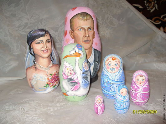 Матрешка свадебная 7 шт.