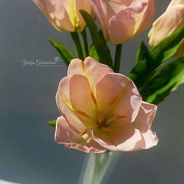Flowers and floristry handmade. Livemaster - original item Tulips from polymer clay. Handmade.