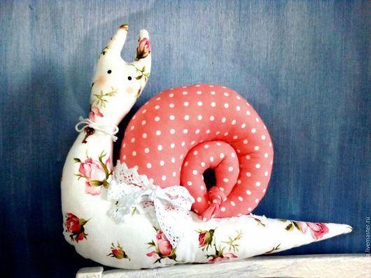 Куклы Тильды ручной работы. Ярмарка Мастеров - ручная работа. Купить Улитка Пеппи. Handmade. Бледно-розовый, в деревню