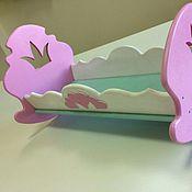 Куклы и игрушки ручной работы. Ярмарка Мастеров - ручная работа Кроватка качалка для кукол «Царевна». Handmade.