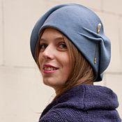 Аксессуары handmade. Livemaster - original item The velour hat from the