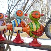 """Куклы и игрушки ручной работы. Ярмарка Мастеров - ручная работа Свистулька """"Птичка"""". Handmade."""