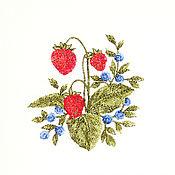 """Для дома и интерьера ручной работы. Ярмарка Мастеров - ручная работа Льняной мешочек """"Лесные ягоды"""". Handmade."""