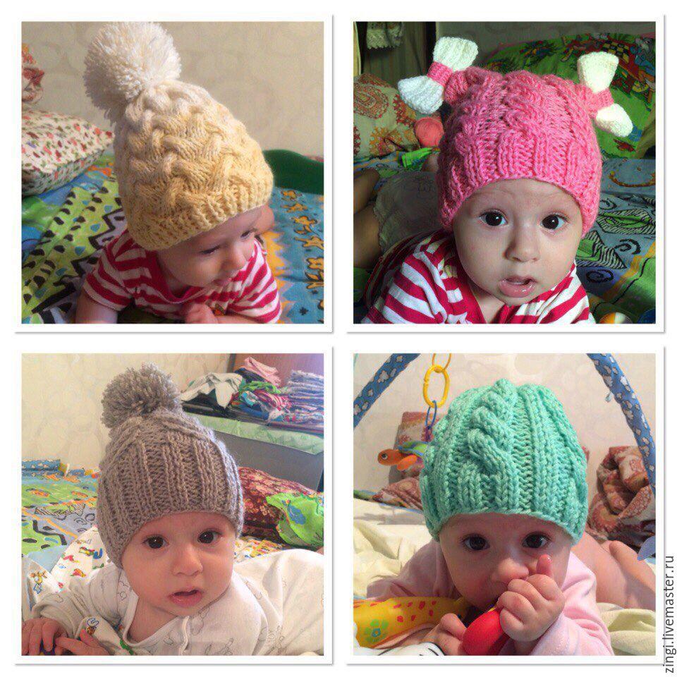 Вяжем для детей шапочки