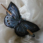 Украшения handmade. Livemaster - original item Barrette,brooch for shawl leather