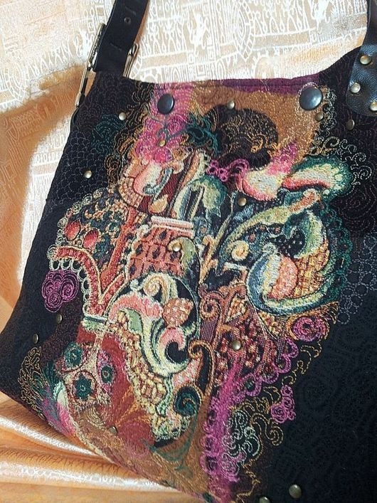 Женские сумки ручной работы. Ярмарка Мастеров - ручная работа. Купить Сумка - Сказка. Handmade. Черный, сумка с декором