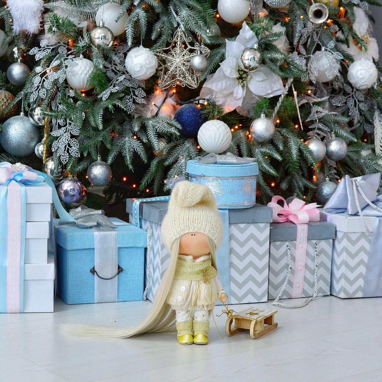 Interior textile doll gnome Christmas, Dolls, Aldan,  Фото №1