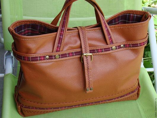 Женские сумки ручной работы. Ярмарка Мастеров - ручная работа. Купить Cумка рыжая Ретро. Handmade. Рыжий, сумка из кожи