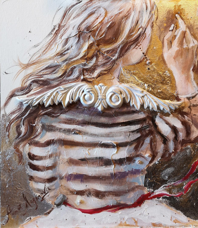 Солнечный бриз - картина с ангелом - картина объемная, Картины, Москва,  Фото №1