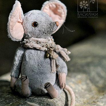 Куклы и игрушки ручной работы. Ярмарка Мастеров - ручная работа Мышка-тедди Ли. Handmade.