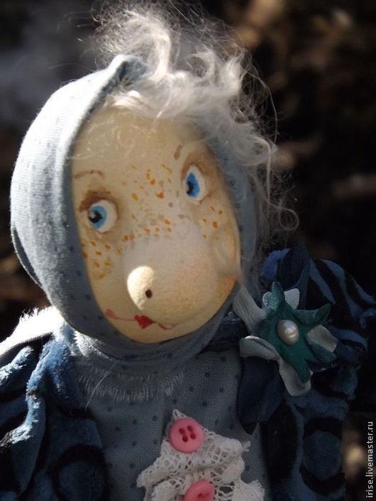 Коллекционные куклы ручной работы. Ярмарка Мастеров - ручная работа. Купить Федора. Handmade. Синий, подарок, шарж, хлопок 100%
