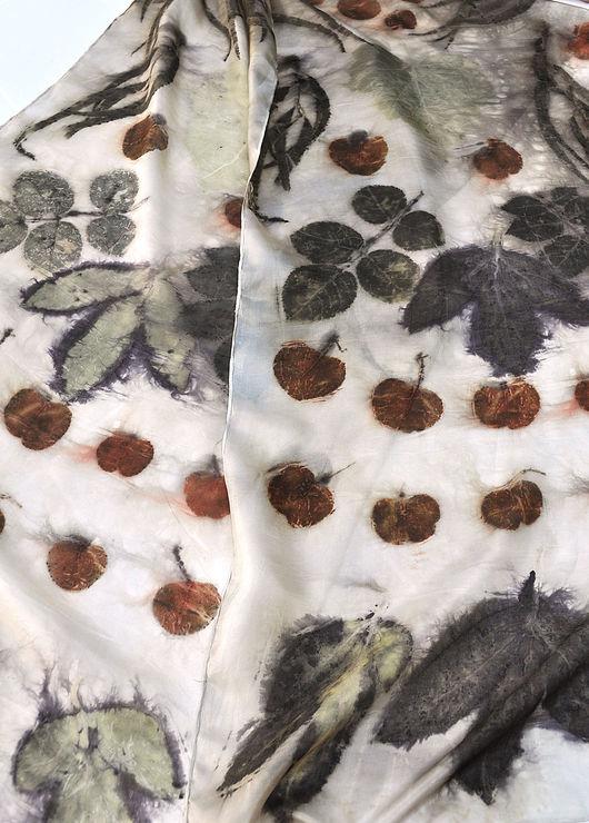 """Шарфы и шарфики ручной работы. Ярмарка Мастеров - ручная работа. Купить Шелковый шарф """"Композиция"""". Натуральный шелк.. Handmade. Рисунок"""