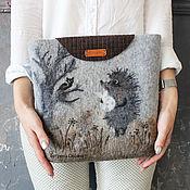 "handmade. Livemaster - original item ""Ежик в тумане"" женская валяная арт-сумка. Handmade."