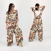 Одежда handmade. Livemaster - original item Summer jumpsuit with medium sleeves in the store EUGfashion-JP0711CV. Handmade.