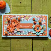 """Открытки ручной работы. Ярмарка Мастеров - ручная работа Конверт для денег """"Рыжий ап"""". Handmade."""