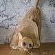 Элементы интерьера ручной работы. Заказать Вот такая кошка. Дмитрий Залётов изделия из дерева. Ярмарка Мастеров. Забавный подарок