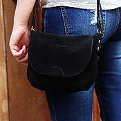 Сумки и аксессуары ручной работы. Ярмарка Мастеров - ручная работа Amy, замшевая сумка через плечо. Handmade.
