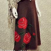 """Одежда ручной работы. Ярмарка Мастеров - ручная работа Вязаная юбка """"Бархатные розы"""". Handmade."""