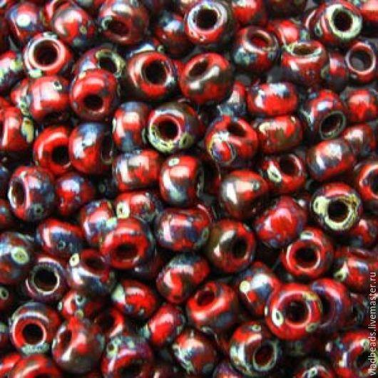 Для украшений ручной работы. Ярмарка Мастеров - ручная работа. Купить Бисер 8/0 Miyuki 4513 Opaque Picasso Red. Handmade.