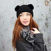 Аксессуары ручной работы. Ярмарка Мастеров - ручная работа Вязаная повязка «Panther». Handmade.