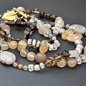 Necklace handmade. Livemaster - original item Long necklace of semi-precious stones and pearls. Handmade.